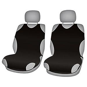 ZentimeX Z707824 Sitzbezüge Vordersitze T-Shirt-Design Baumwolle schwarz