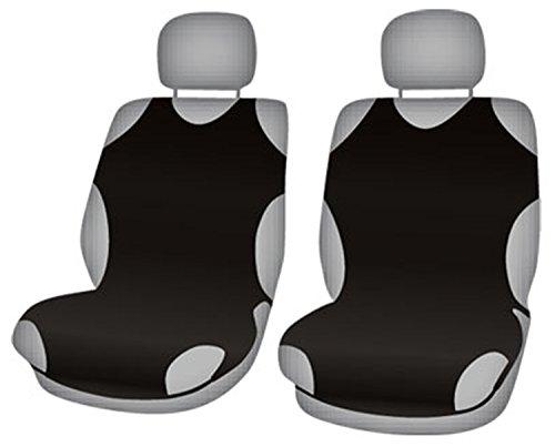ZentimeX Z708432 Sitzbezüge Vordersitze T-Shirt-Design Baumwolle schwarz