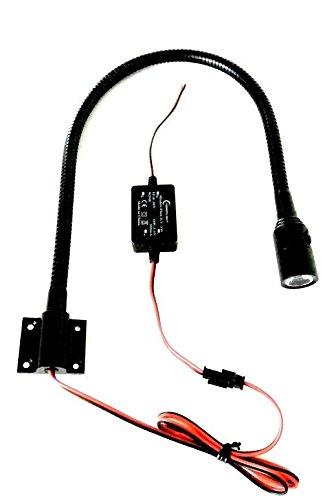 LED 12-24V Leseleuchte mit Schalter Schwanenhals map light Co-Pilot Wohnmobil (Pilot-licht-schalter)