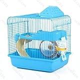 Nobleza 021406 - Jaula Para roedores, Color Azul con Tobogán y Una Rueda. Medidas: Largo 28 cm x...