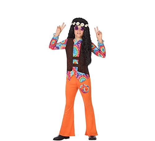 ATOSA 56855 Kostüm für Jungen Costume Hippie 7-9, Mehrfarbig, 7 a 9 ()