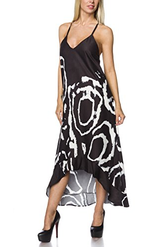 Angies Glamour Fashion -  Vestito  - Donna Nero/Bianco