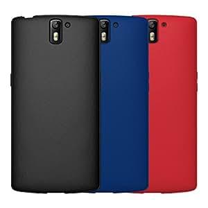 Diztronic Coque de protection flexible en TPU pour OnePlus One Mat intégral Black/Blue/Red