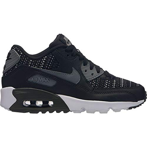 Nike Air Max 90 Mesh Se (GS), Scarpe Running Bambino, Multicolore (Black/Cool Anthracite/Wolf Grey 002), 37.5 EU