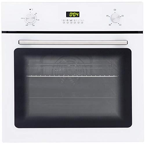 412SmCGMkeL. SS500  - SIA SO102WH 60cm White Built In Single Electric True Fan Oven With Digital Timer