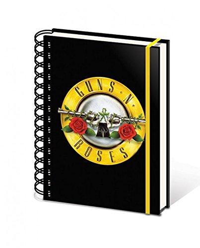 guns-n-roses-bullet-logo-bloc-de-notas-libreta-de-espiral-21-x-15cm
