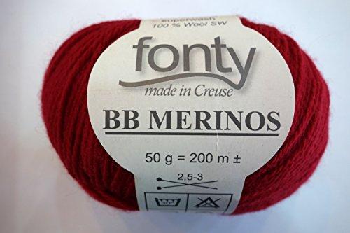 BB Merino-Fonty rouge hermès