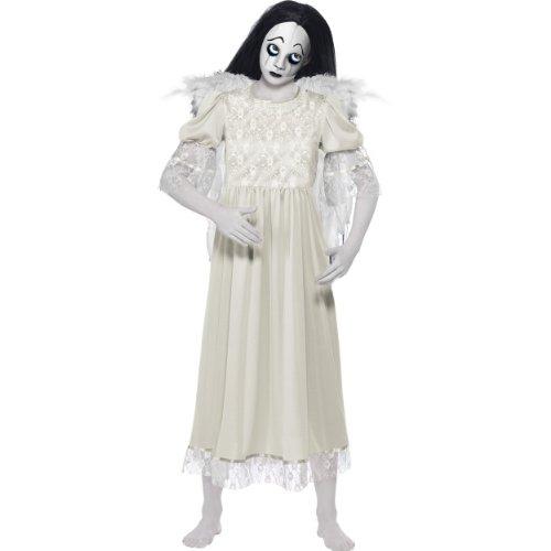 Living Dead Dolls Damen Kostüm Rain Weiße Frau Engel Halloween (Doll Dead Kostüme)