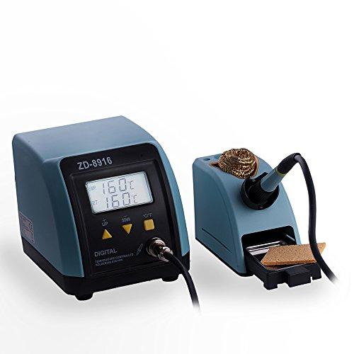 Digitale regelbare Lötstation bis 480°C 60W (kurzzeitig 130W) Lötkolben Löten mit viel Zubehör Lötschwamm Metallschwamm