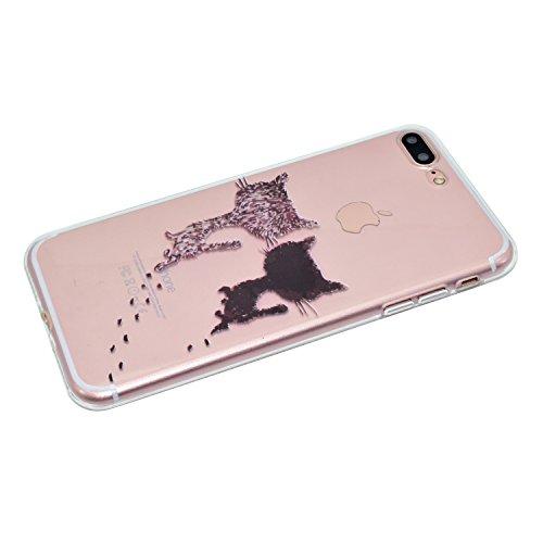 Apple iPhone 7 Plus 5.5 Hülle, Voguecase Schutzhülle / Case / Cover / Hülle / TPU Gel Skin (Buntes Muster) + Gratis Universal Eingabestift Zwei katze