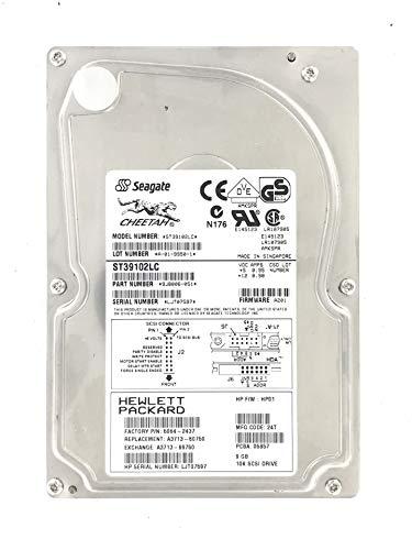 Disque Dur Festplatte HP A3713-60750 9,1 GB 10K U160 80pin SCA-2 SCSI Hard Drive A3713-69750 5064-2437 ST39102LC 9J8006-051 A3713A -