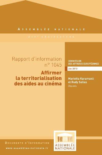 Couverture du livre Rapport d'information sur le projet de révision des règles relatives au contrôle des aides d'Etat dans le secteur du cinéma
