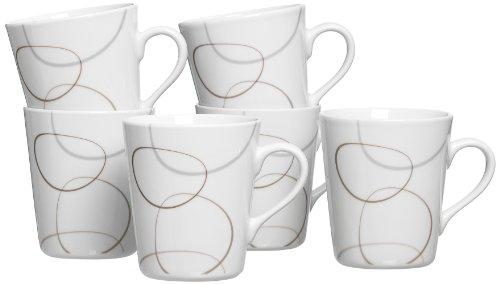 Ritzenhoff & Breker Kaffeebecher-Set Alina Marron, 6-teilig, 300 ml