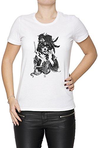 amen T-Shirt Rundhals Weiß Kurzarm Größe M Women's White Medium Size M ()