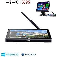 Pipo X9S Mini PC, 8.9 1920 x 1200, Windows 10 & Android 5.1 Dual OS, Mini PC, Intel z8350, Quad Core, 2 GB de RAM, 32 GB eMMC, Tablet Computer, Windows 10 TV Box