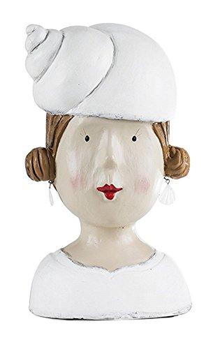 Preisvergleich Produktbild Aufsteller Deko Kopf mit Muschel Frauenkopf Frau Mädchen Lady Ladykopf Büste maritim