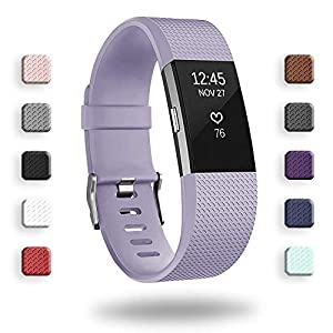 AdePoy Replacement Sport Strap Band Compatible for Fitbit Charge 2, Adjustable Accessory Sport Wristband Small Large Women Men