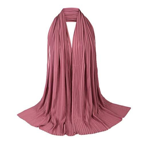 TEBAISE Schals Kopftuch Damen Muslim Spitze Schal Islamischen Hijab Frauen Mode Muslim Gebet Einfarbig Kopfbedeckungen Lässige Chiffon Wrap Muslimischen Hijabs 2019 Neu (Billig Australischen Kostüm-online-shops)