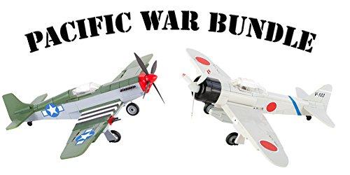 55135515 Pacific War Bundle - Bausteine P-51 Mustang Jagdflieger & japanisches Zero A6M2 Flugzeug, 500 teiliges Bausteine Set