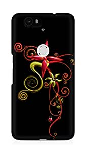 Amez designer printed 3d premium high quality back case cover for Huawei Nexus 6P (Abstract Dark 5)