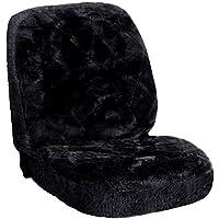 SITU SCSC0140 universal ökologisch Lammfellbezug Sitzbezug Sitzbezüge für Auto aus echtem Lammfell schwarz