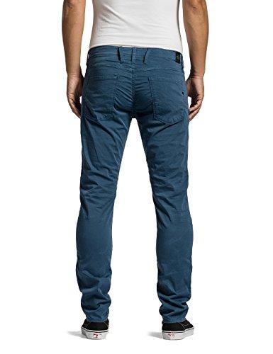 Replay Herren Slim Jeans Anbass Blau (AVION BLUE 175)