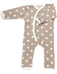 Organics for Kids Grenouillère -'Spotty Kimono' - Taupe 6 - 12 mois