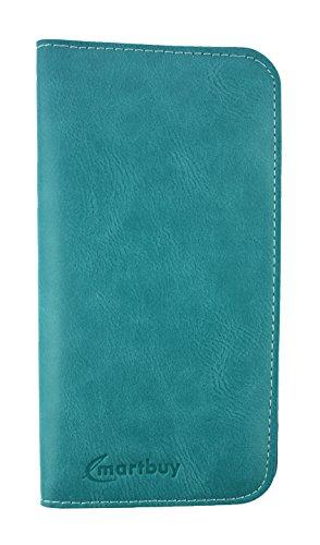 Emartbuy® Tan Magnétique Mince Étui Coque Case Cover en PU Cuir ( Taille 3XL ) Adapté Pour Apple iPhone 7 Turquoise Magnétique Étui ( 3XL )
