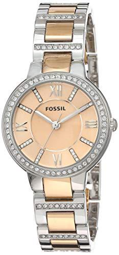 Fossil Damen Analog Quarz Uhr mit Edelstahl Armband ES3405