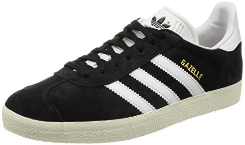 Adidas Gazelle, core black/vintage white/gold metallic, 8,5