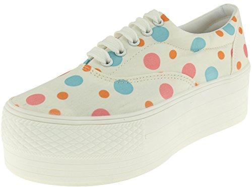 Maxstar C50, 5-Loch, Low-Top-Sneakers Freizeit Platform Boot Dot-Sky Pink