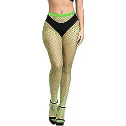 Weilov Femmes Sexy en Résille Doux Collants Lingerie Dames Transparent Érotique Femmes Dentelle Body Dames Barboteuse Bas Confortable