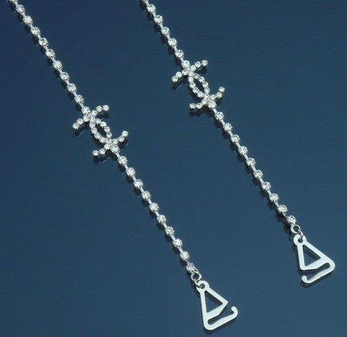 Diamante BH-Träger–einreihig Kristall–1Paar (Clear Strapless Bra Strap)