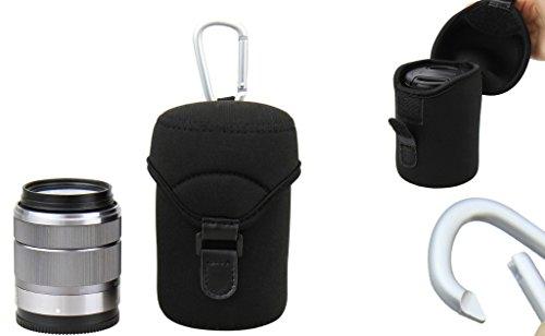 Neopren Schutzhülle/Köcher mit Karabinerhaken - Größe L (62 mm x 110 mm)