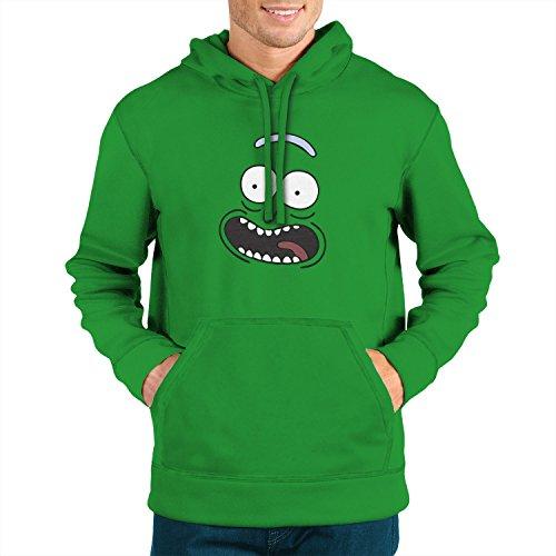 Planet Nerd - Pickle Rick - Herren Kapuzenpullover Grün