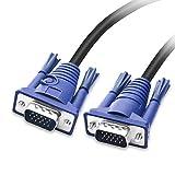 15-Pin VGA to VGA Câble, Universel Adaptateur Convient pour Laptop, PC, Projector,...