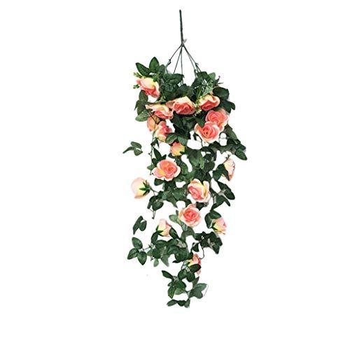 Juesi Kunstblume, Rosenranke, Hängekorb, Blume, Orchidee, für Wohnzimmer, Balkon, Heimdekoration beige - Seide, Blumen-reiniger-spray