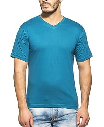 Clifton Mens Combo Half Sleeve V-Neck T-Shirt-Corsair-Navy-S