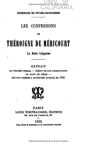 Les confessions de Théroigne de Méricourt