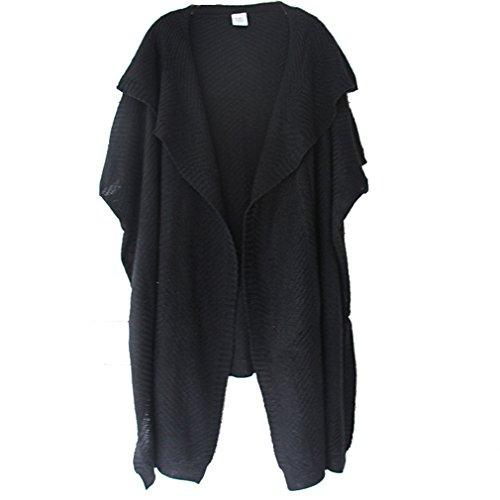 WTUS Ultra Femme Gilet Basique en Coton Nouveau 2017 Noir