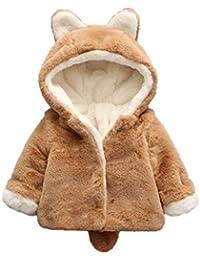 MYQyiyi bebé invierno Lindo chaqueta de algodón con capucha de Orejas ... c7dae495ab561