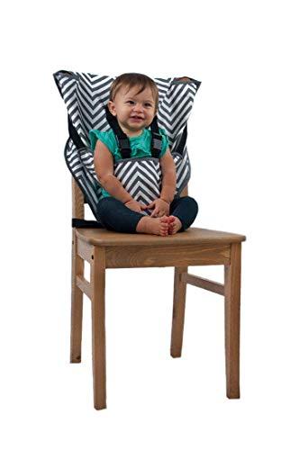 Cozy cover Easy Seat (Chevron) - rapide, facile, pratique chaise haute de voyage de tissu adapte dans votre sac à main de sorte que vous pouvez l'avoir partout avec vous pour un bébé plus heureux, plus sûr