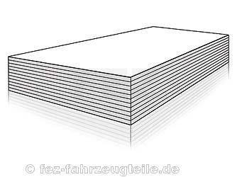 Preisvergleich Produktbild Papier weiß (500 Blatt) DIN A4 80g/qm (für Laserdrucker)
