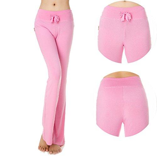 Laixing Alta qualità Women Fashion Workout Leggings Fitness Sports Gym Running Yoga Pants #028 Pink