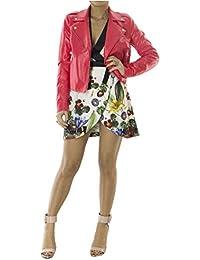 Imperial Giubbino Casual da Donna Estivo Modello Chiodo in Vinile Tinta  Unita vestibilità Slim Fit Made 25f4737324c9