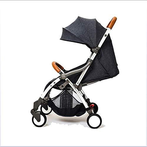 SHOWGG Kinderwagen, ultraleichtes, tragbares, automatisches Reisesystem für Kinder, urbaner High-Vision-Luxus-Kinderwagen, stoßdämpfender Klappkinderwagen, sitzender und Verstellbarer Kinderwagen