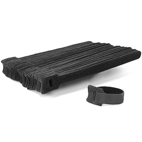 com-four® 100x Klett-Kabelbinder - wiederverwendbarer Kabelbinder mit Klettverschluss 15 x 2 cm (100 Stück - Klett)