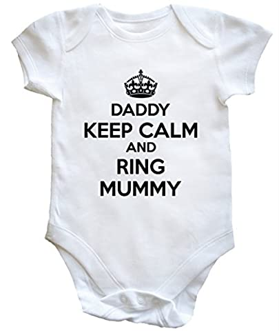 HippoWarehouse Daddy Keep Calm and Ring Mummy baby vest boys