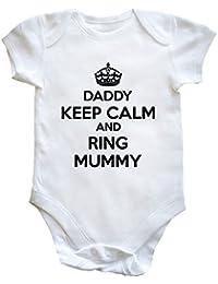 HippoWarehouse Daddy Keep Calm and Ring Mummy body bodys pijama niños niñas unisex