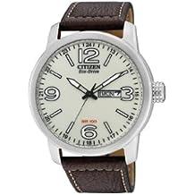 Citizen BM8470-03A - Reloj analógico de Cuarzo para Hombre, Correa de Piel de